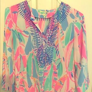 New Lilly Pulitzer Silk Tunic